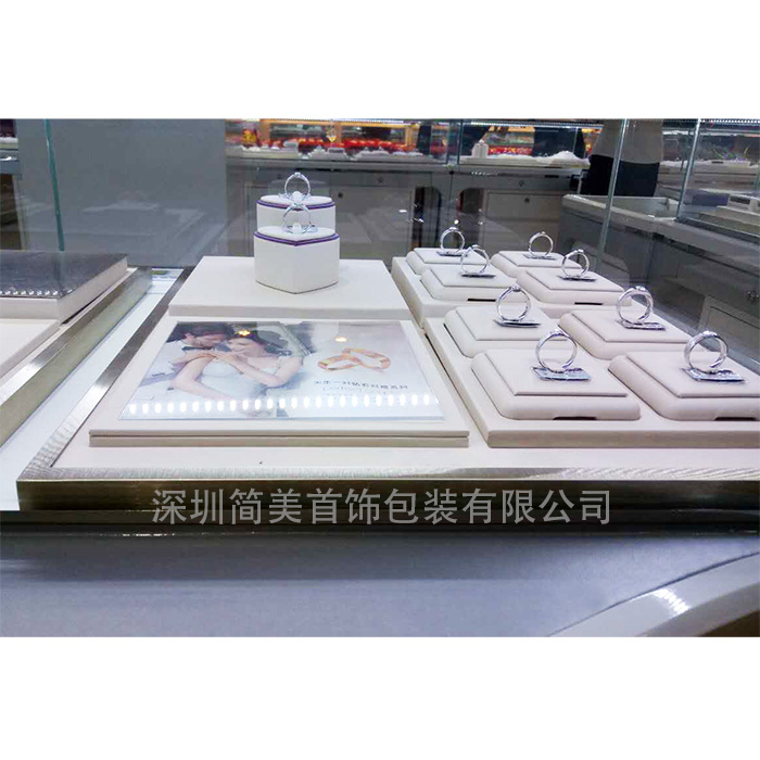 钻石K金陈列 珠宝首饰展示架 饰品展览道具设计定制 zsj-011